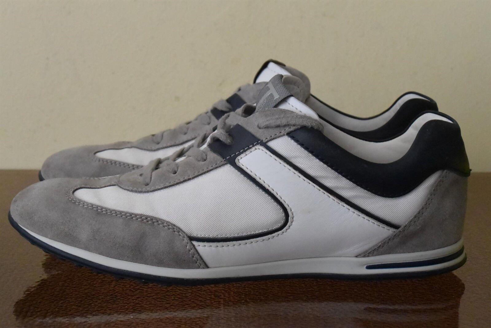 Tod's Men's White Grey Sneakers Sz 9.5