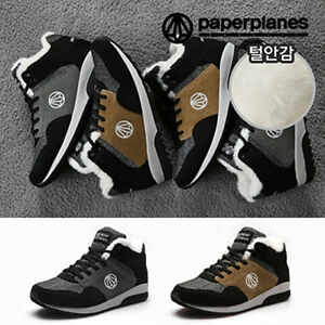 Paperplanes-Mens-Hi-Tops-Fur-Shoes-Winter-Athletic-Fashion-Sneakers-Boots-1423
