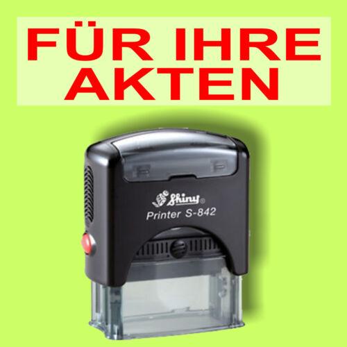 Shiny Printer Schwarz S-842 Büro Stempel Kissen Rot FÜR IHRE AKTEN