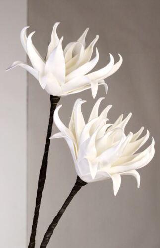 15cm Länge 100cm 28014 Blume Foam Flower weiß mit 2 Blüten Ø 22cm Höhe ca