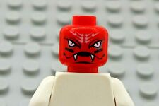 LEGO Minifig Head Alien w// White Snake Eyes /& Mouth with Fangs Red
