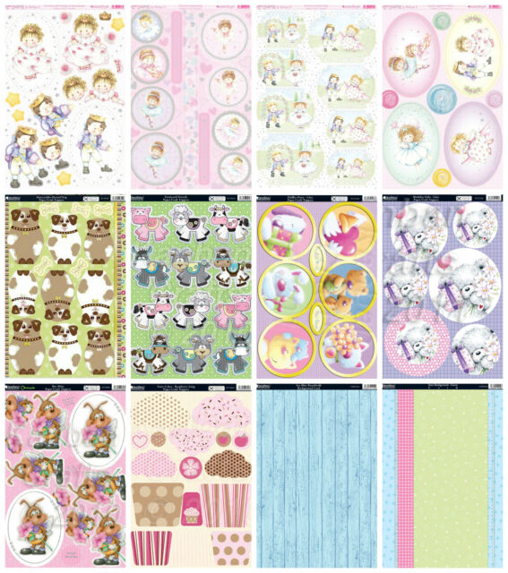 Cute themed Kanban card kit, Sugar Buttons- die cut paper craft toppers & card
