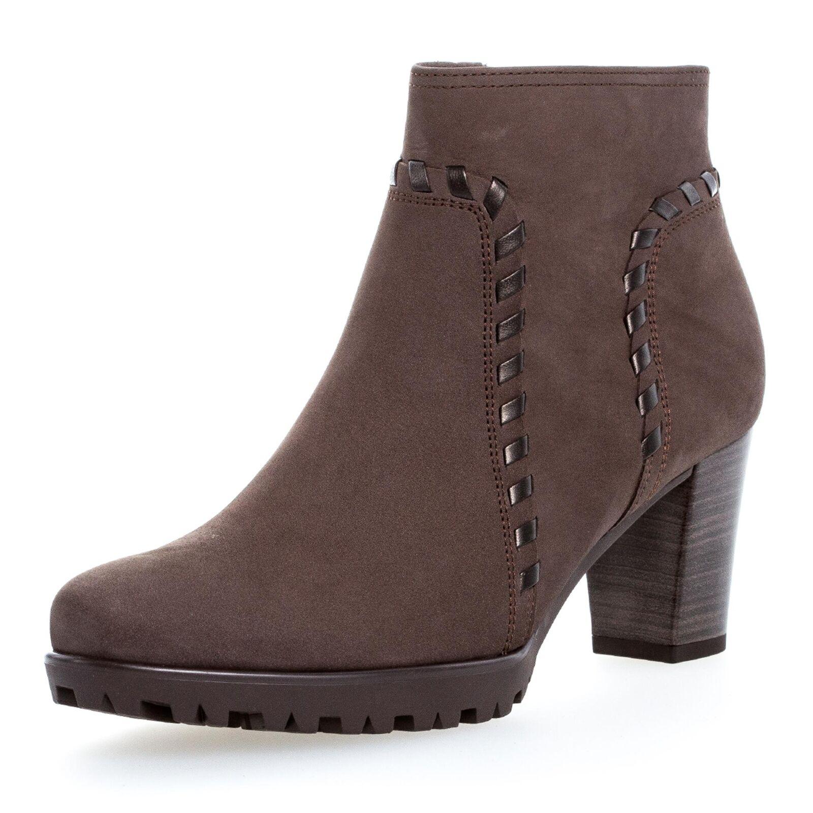 Gabor Comfort Damen Stiefeletten Trotteurs Ancle Stiefel Schuhe Echtleder taupe