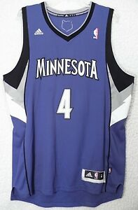 932a25afe47 Image is loading NBA-Basketball-Wesley-Johnson-4-Minnesota-Timberwolves- Jersey-