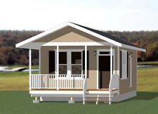 16x30 Tiny House -- 480 sq ft -- PDF Floor Plan -- Model 3