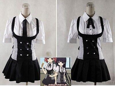 NEW Inu x Boku SS Shirakiin Ririchiyo and Roromiya Karuta Cosplay Costume skirt