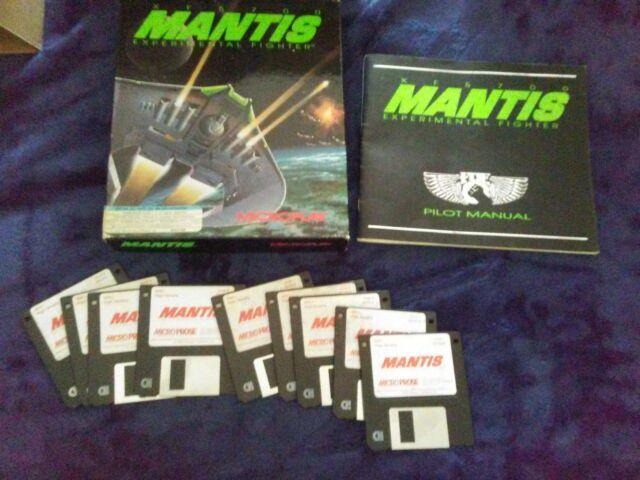 XF5700 Mantis Experimental Fighter vintage PC video game 1992 3.25 Floppy disk