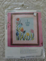 Vintage 1975 Vogart I Love You Crewel Embroidery Sealed Kit 868a