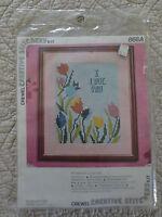Vintage 1975 Vogart I Love You Crewel Embroidery Sealed Kit 868a