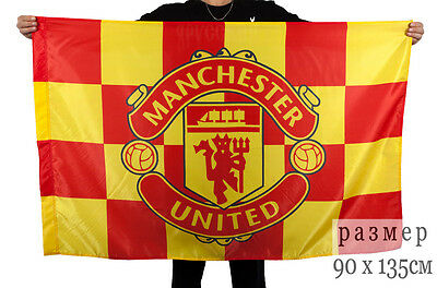 Flag FC Manchester United for football fans /& Champions League 90х135 cm HQ