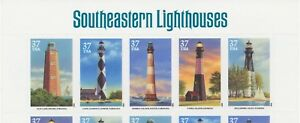 USA-ABART-2003-Southeastern-Lighthouses-U-M-MS-w-LOWER-VALUE-in-2nd-stamp-R