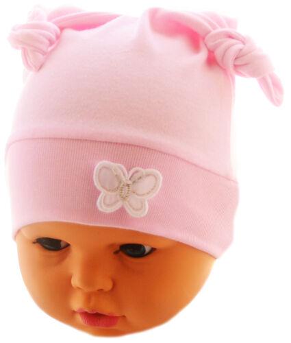 Mütze Erstlingsmütze 50 56 62 68 Ohrenmütze Zipfelmütze Baby Mützchen Rosa