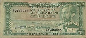 Image Is Loading One Ethiopian National Bank Of Ethiopia Dollar Bill