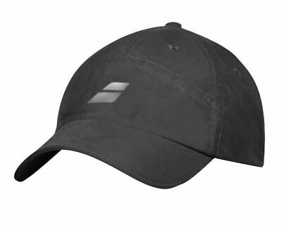 Babolat Basic Logo Cap Tennis Headwear Badminton Squash Hat Racquet White 1000