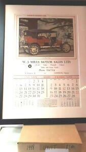 W-J-Mills-Chrysler-Dealer-Goderich-Ontario-Framed-Calendar-exc-cond