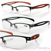 Reading Glasses Semi Rimless Sophisticated Readers 100-400