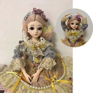 FULL-SET-1-3-BJD-Puppe-Doll-60cm-Kugelgelenk-Maedchen-Puppe-Make-up-Kleid