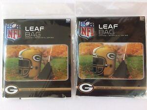 140a5084b35 TWO (2) NEW NFL Green Bay Packers Stuff-A-Helmet tm Leaf Bags w ...