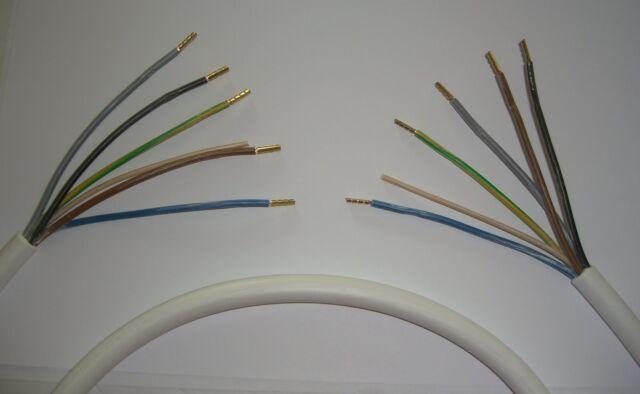 Kabel H05VV-F Länge 1,5m by LIGHT Herdanschlußkabel 5x 2,5mm² LIVING