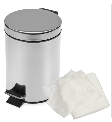 200 Clear Pedal Bin Bags Light Duty Small Liners Thin 10L Office Toilet Kitchen