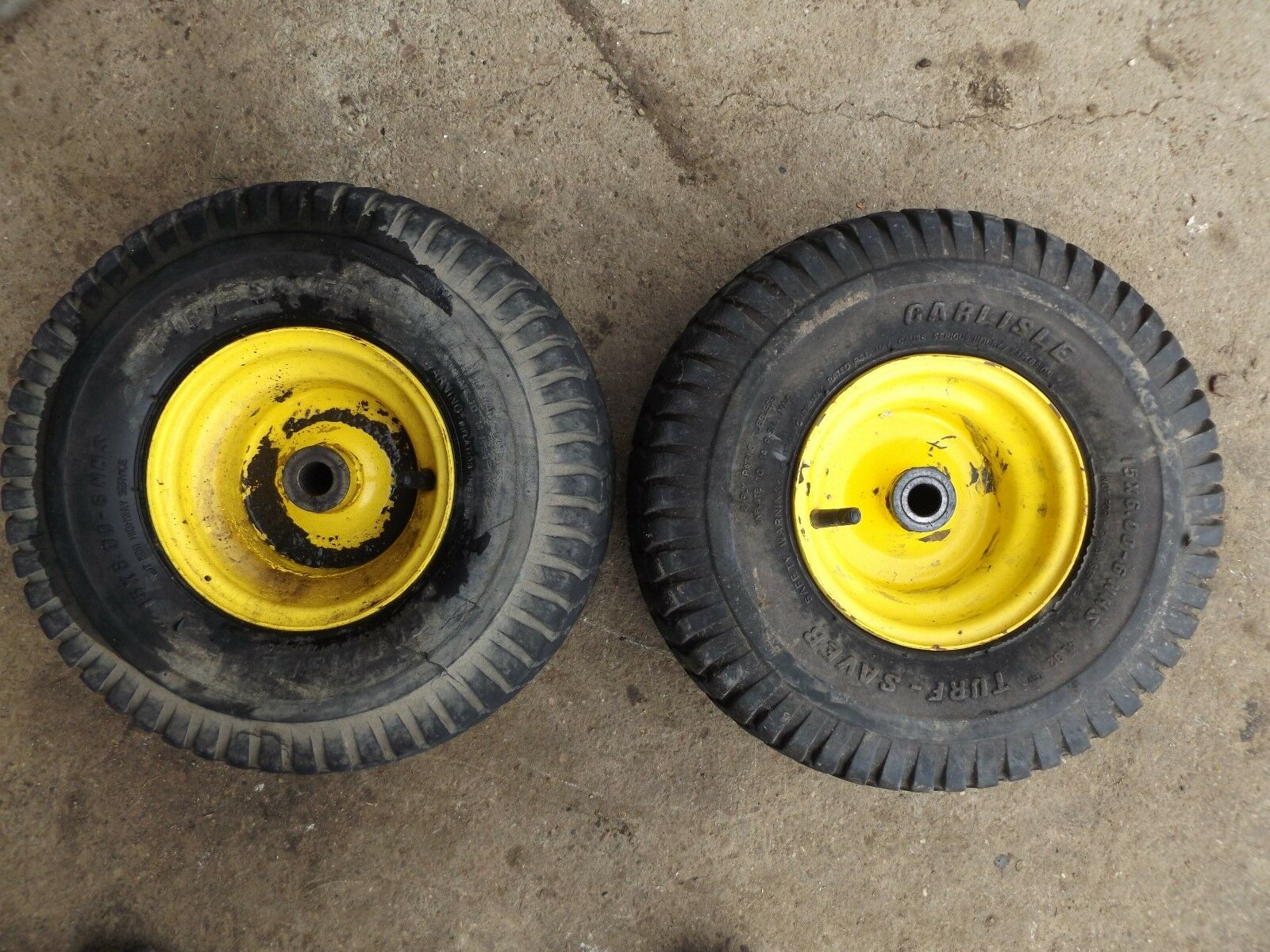 John Deere Front Rims and Tires 15x6.00-6