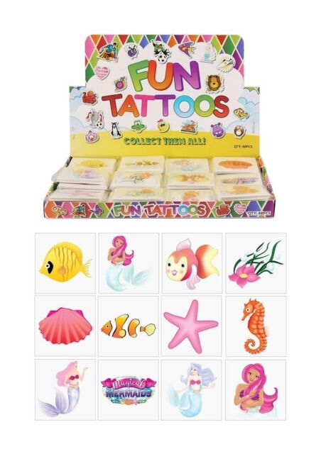 Loot Party Bag Fillers Kids Temporary 6 Packs Of 12 72 Butterfly Tattoos