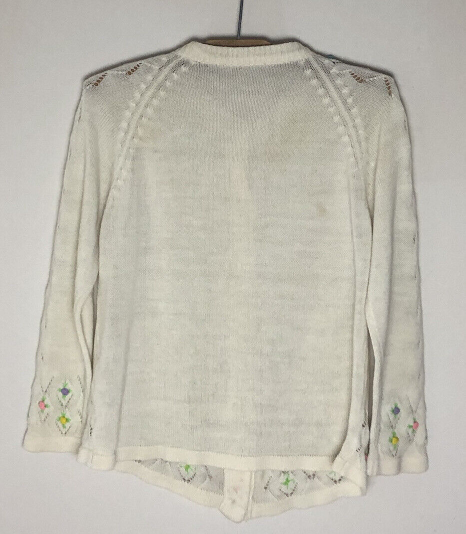 Vintage Cottagecore Fairycore Embroidered Floral … - image 5