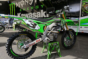 NEW Factory Kawasaki Eli Tomac Replica Graphics Kit KXF250 KX250F ...