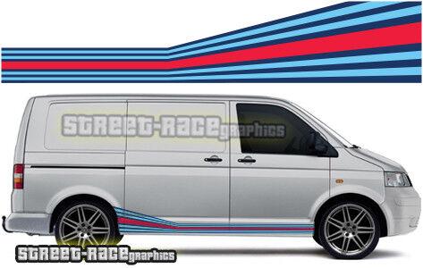 VW Volkswagen Transporter Martini sides 004 racing stripe stickers graphics