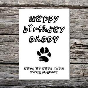 Funny cute birthday card happy birthday daddy love from the dog image is loading funny cute birthday card happy birthday daddy love bookmarktalkfo Images