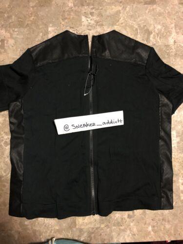 Tech Nike la para con espalda cremallera cremallera en Camiseta estampada Sz mujer 010 negra 749130 con L 10qnxfzv