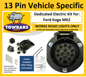 13 Pin Towbar Wiring Kit for Ford Kuga MK2 2013to2020 Vehicle Specific Electrics