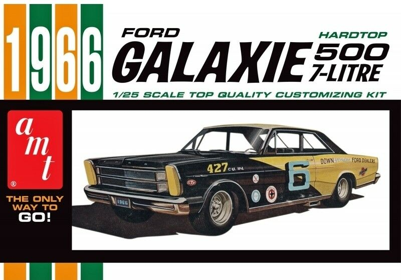 1966 Ford Galaxie 500 Hardtop 1 25 Scale AMT Detailed Plastic Car Kit