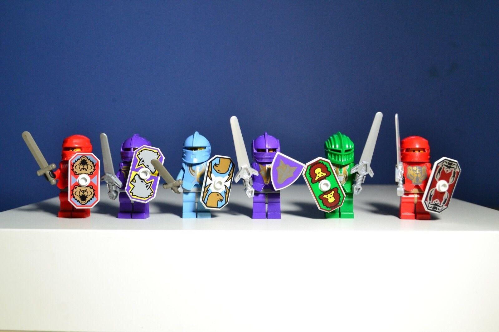 LEGO Castle Knights Kingdom II Santis Minifigures Lot Of 6  8801 8873 8877