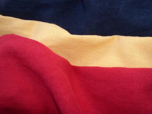 Leinen 100/% Ramie in Marineblau Rot oder Gelb