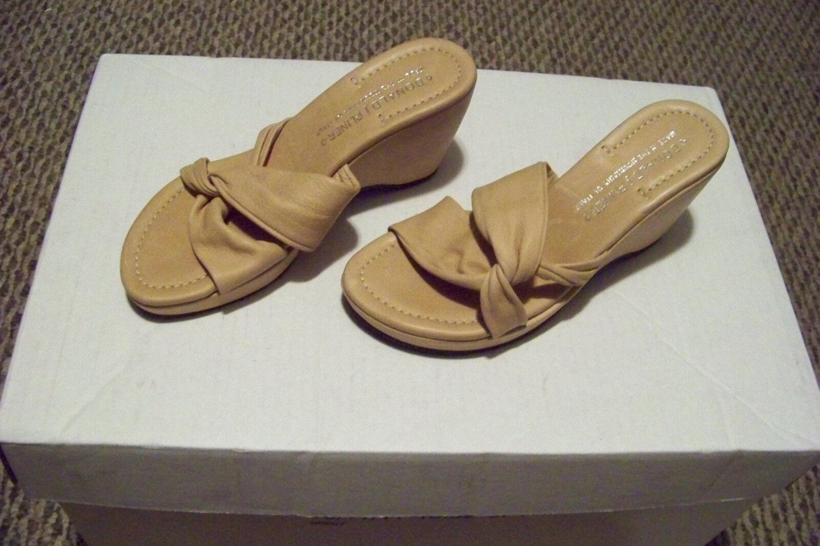 ti renderà soddisfatto donna donald j pliner tan soft leather strappy strappy strappy wedge heels scarpe Dimensione 6 1 2  l'ultimo