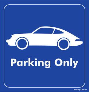 Parking-Only-Porsche-911-Aufkleber