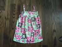 Big Fish By Sweet Potatoes Floral Swimsuit Cover Updress Size 6x Girls