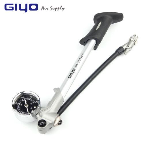 GIYO Air Inflator Bicycle Bike Mini Pump Fork Shock Psi Gauge Bleeder Portable