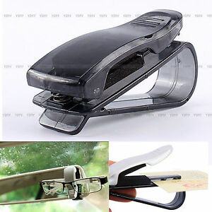 clip pince pare soleil lunettes porte carte billet ticket support voiture auto ebay. Black Bedroom Furniture Sets. Home Design Ideas