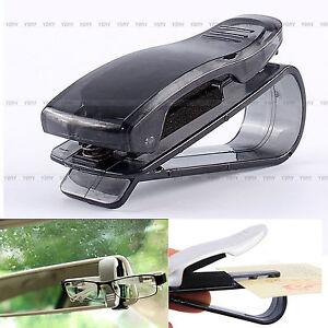 clip pince pare soleil lunettes porte carte billet ticket support voiture auto ebay. Black Bedroom Furniture Sets. Home Design Ideas