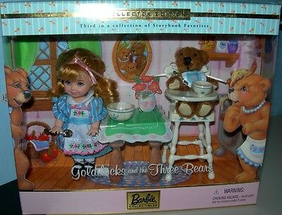 2001 Kelly Doll as Goldilocks and The Three Bears - Barbie Storybook Collection