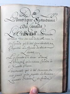 1700-s-French-Handwritten-18c-Manuscript-Calligraphy-Intro-A-La-Geographie-315pp
