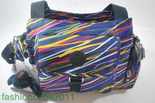 New With Tag KIPLING FAIRFAX MEDIUM SHOULDER AND CROSSBODY BAG Streamers Print