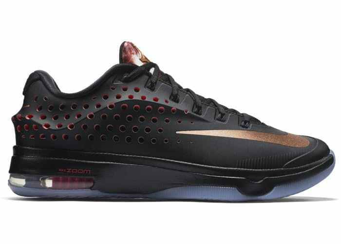 Nike Air KD 7 Elite  Size 8 Black Metallic Bronze Kevin Durant