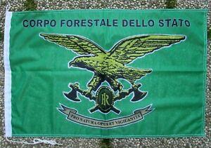"""Bandiera stemma """"CORPO FORESTALE DELLO STATO - C.F.S."""" - (50X75) - Rarità"""