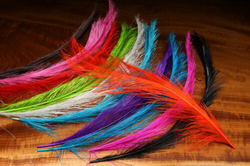 Fly Tying feathers plumes 11 colors available RHEA PLUME