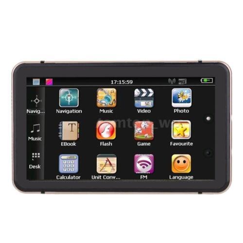 7/'/' Portable Car GPS Navigation Auto Navigator Nav 4GB 128MB RAM with Free Map
