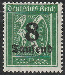 Stamp-Germany-Reich-Mi-278-Sc-242-1923-Inflation-Number-Rectangle-OP-MH