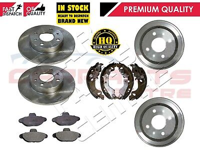 FIAT PUNTO 1.2 8v MK2  FRONT BRAKE DISCS AND PADS 1999-2005